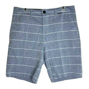 Hurley Mens 32 Light Sea Blue Cotton Shorts